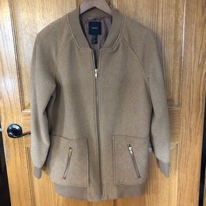 Forever 21 Tan Women's Coat Size Large Zip Up